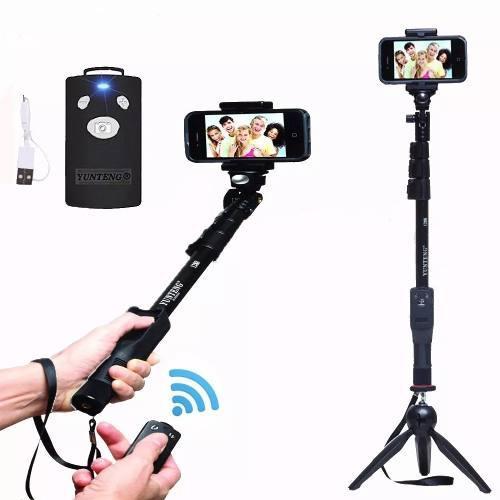 Monopod Selfie Stick Yunteng + Control + Tripode, Reflex