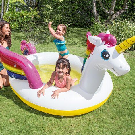 Piscina Inflable Forma Unicornio Playa