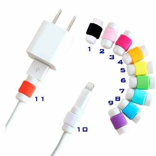 Protector Cable Lightning Usb Iphone Ipad Ipod Colores