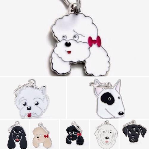 Perros De Raza Pura Collar De Plata Con Foto De Tu Mascotas