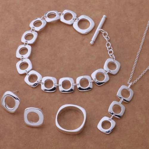 Collar, Aretes, Anillo Y Pulsera De Plata, Diseño: