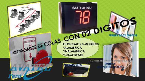 Gestion de filas con pantalla pe03 inalambrica en Huancayo