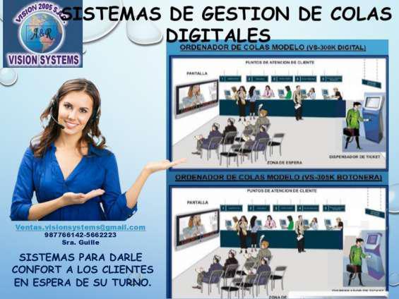 Sistemas de colas modelo vs 300k digital en Lima