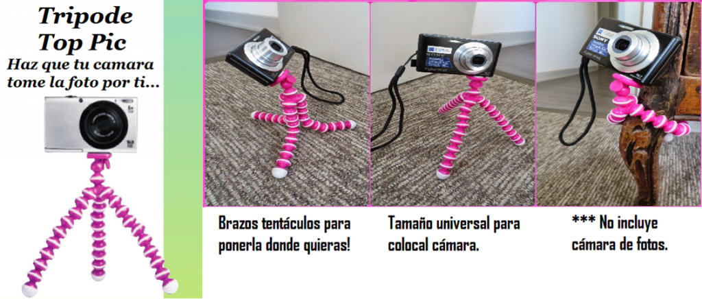 Tripode Portatil Flexible Camaras Cyzone
