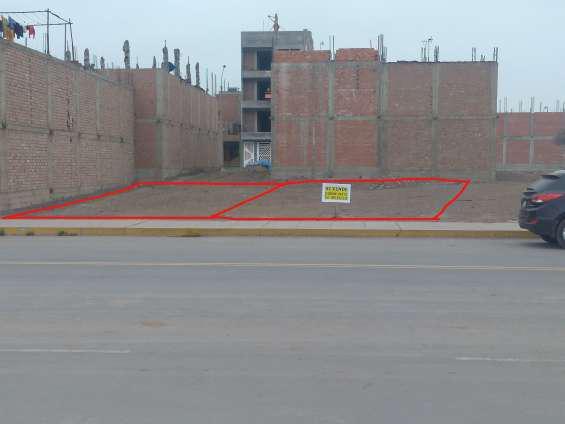 Vendo terreno en avenida de 144 m2, urb. san antonio de