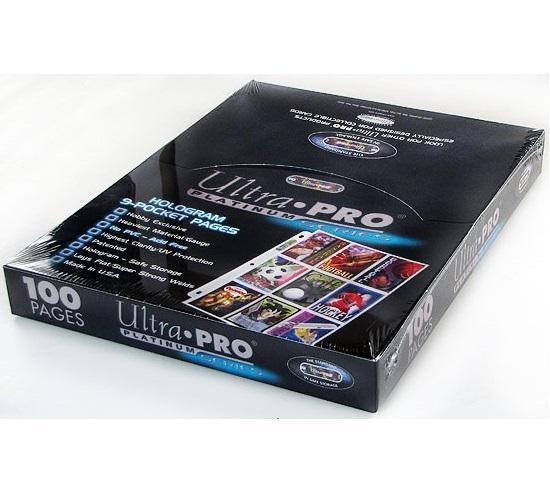 Caja De Micas Ultra Pro Platinum De 9 Bolsillos x 100