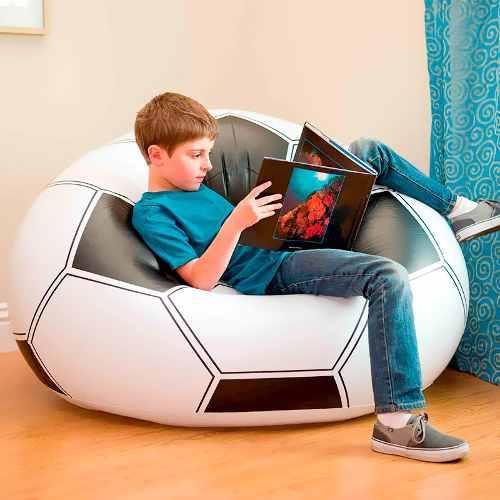 Mueble Sofa Inflable Puff, Cojín Pelota De Fútbol