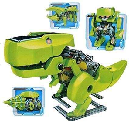 Robot Dinosaurio Armable Solar 4 En 1