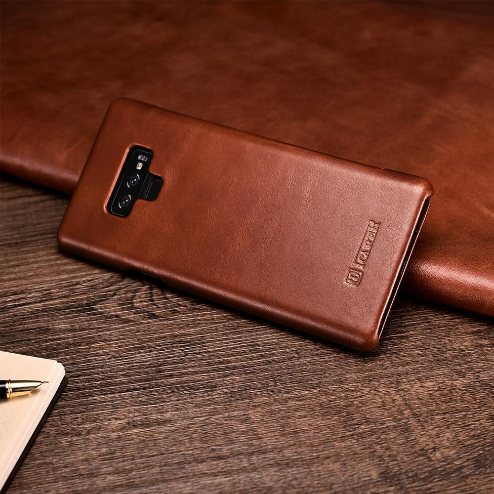 Case Flip Cover de cuero Genuino para Samsung Note 9