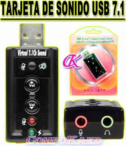 Tarjeta De Sonido Externa Usb 2.0 P/audifono Y Microfono 7.1