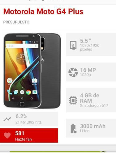 Moto G4 Plus 32gb 16mp