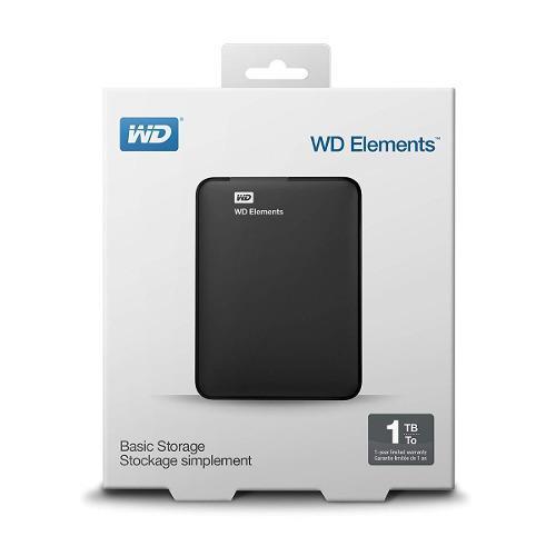 Disco Duro Externo 1tb Western Digital Elements Usb 3.0