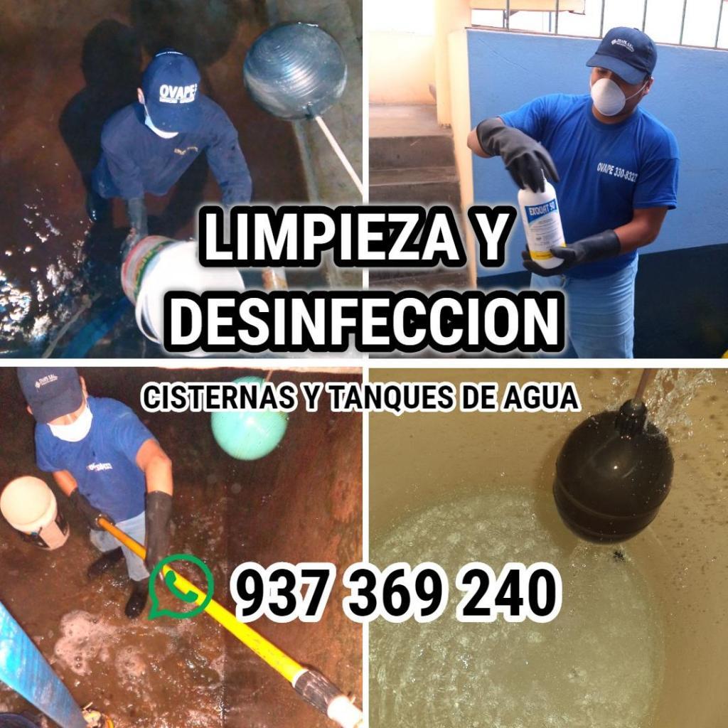 LlMPIEZA Y DESINFECCIÓN DE TANQUES DE AGUA
