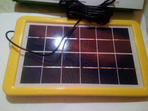 Cargador Solar Para Celular De 6 Voltios Y 7 Watt