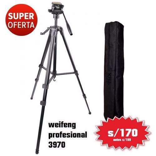 Tripode Profesional Video Weifeng 3970 1,70 (tienda)
