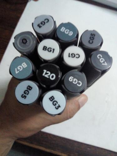 Color Marker Sta Plumones Doble Punta Alcohol