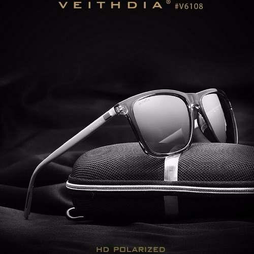 Lentes De Sol Para Hombres Y Mujer Veithdia Gafas Retro 6108