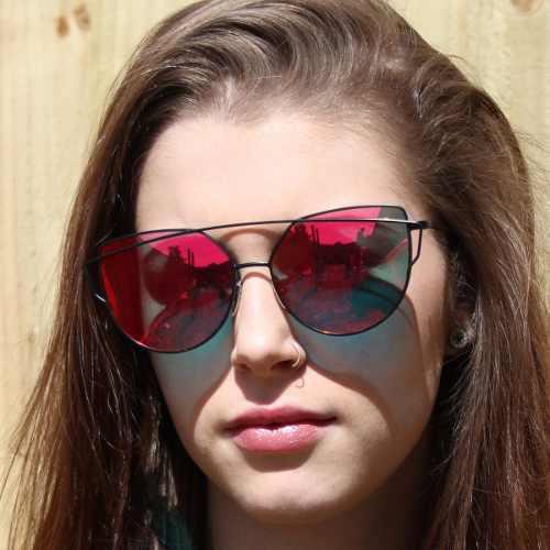 Lentes De Sol Para Mujer Polarizados Rojo Gafas De Verano
