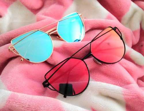 Lentes Gafas De Sol Mujer Espejo Cat Eye Colores Iscute
