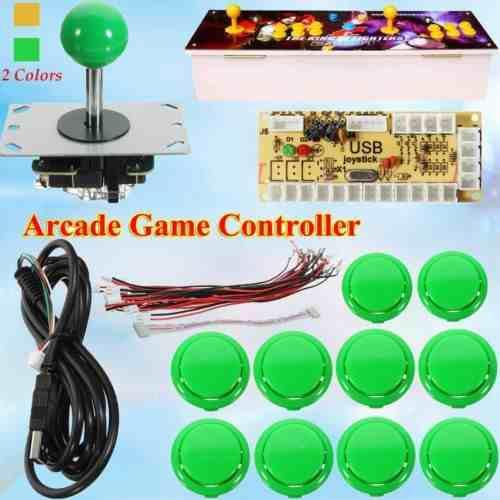 Kit Zero Delay Arcade Game Usb + Palanca + 10 Botones