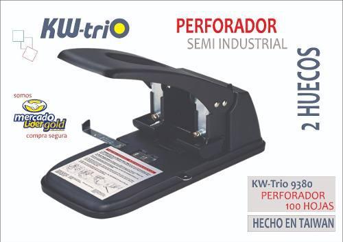 Perforador Semi Industrial Para 100 Hojas Kw Trio 9380