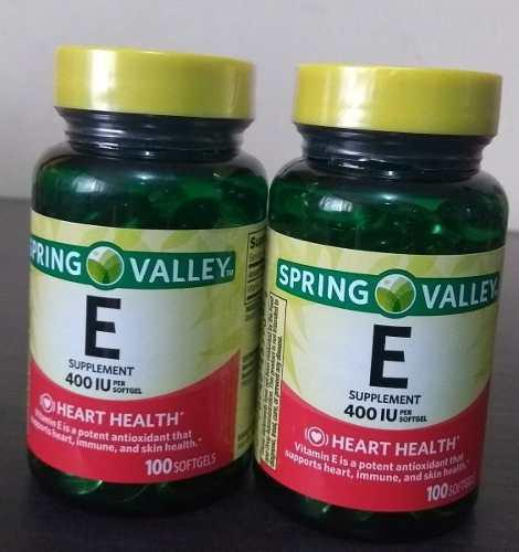 Pack 2 Vitamina E 200 Softgel En Total 400iu Spring Valley