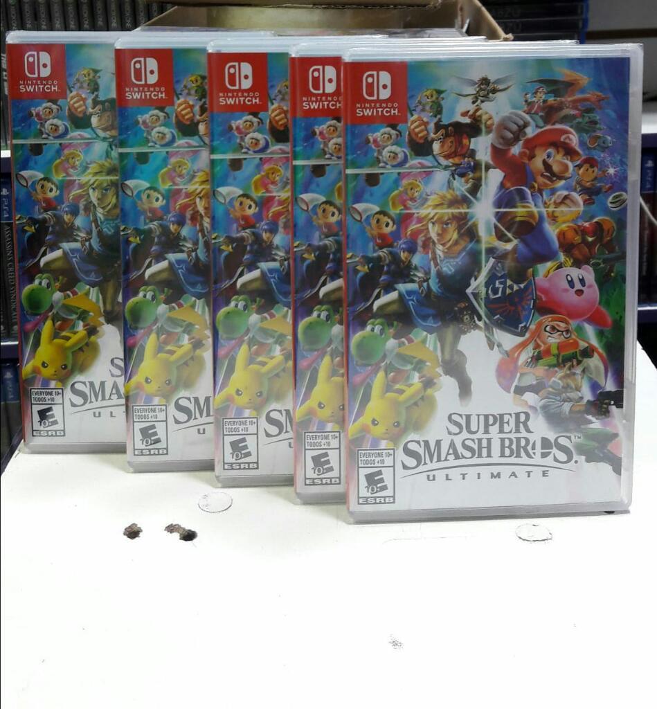 Super Smash Bros Ultimate Nintendo Switch Nuevo y Sellado