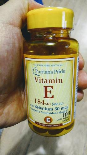 Vitamina E 400 Ui Con Selenium 50mg, Antioxidante. Natural