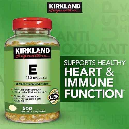 Vitamina E 400iu X500 Softgels Kirkland Antioxidante De Eeuu