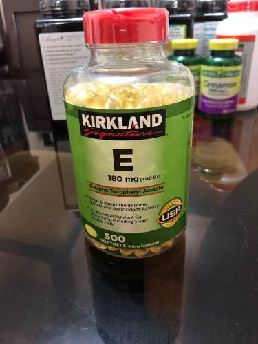 Vitamina E Kirkland 180 Mg 500 Tabletas!!!!