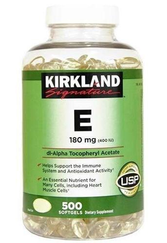 Vitamina E, Marca Kirkland Y Member's Mark, 500 Gels