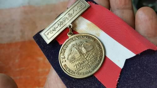 Antigua Medalla 75 De Imigracion Japonesa