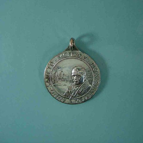 Antigua Medalla Del Papa Pio X I Año Santo 1925