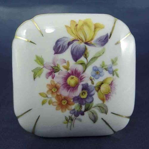 Antiguo Cofre Porcelana P M Porzellanfabrik Moschedorf