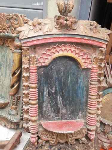 Antiguo Retablo Hecho En Madera Cedro-tienda Propia