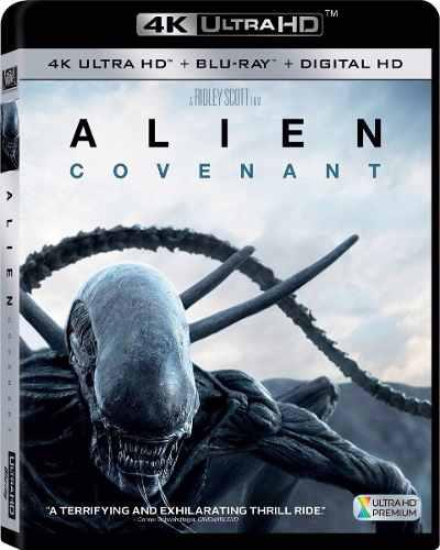 Blu Ray Alien Covenant 2d- 4k - Stock - Nuevo - Sellado