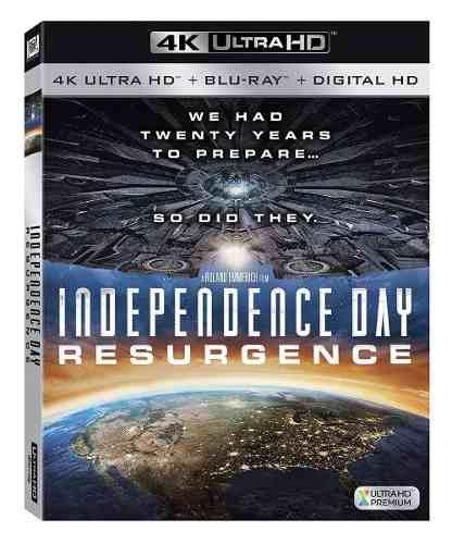 Blu Ray Día De La Independencia: Contrataca 2d - 4k - Stock