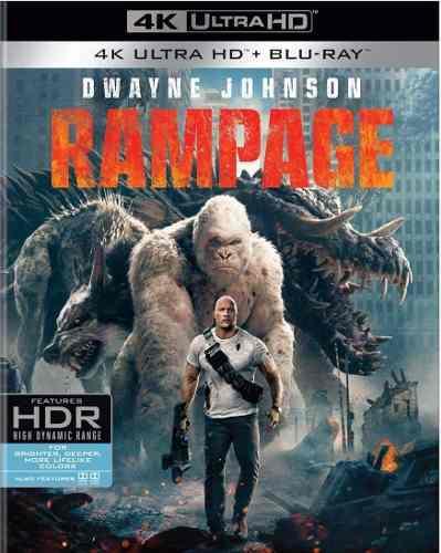 Blu Ray Rampage: Devastación 2d - 4k - Stock- Nuevo-