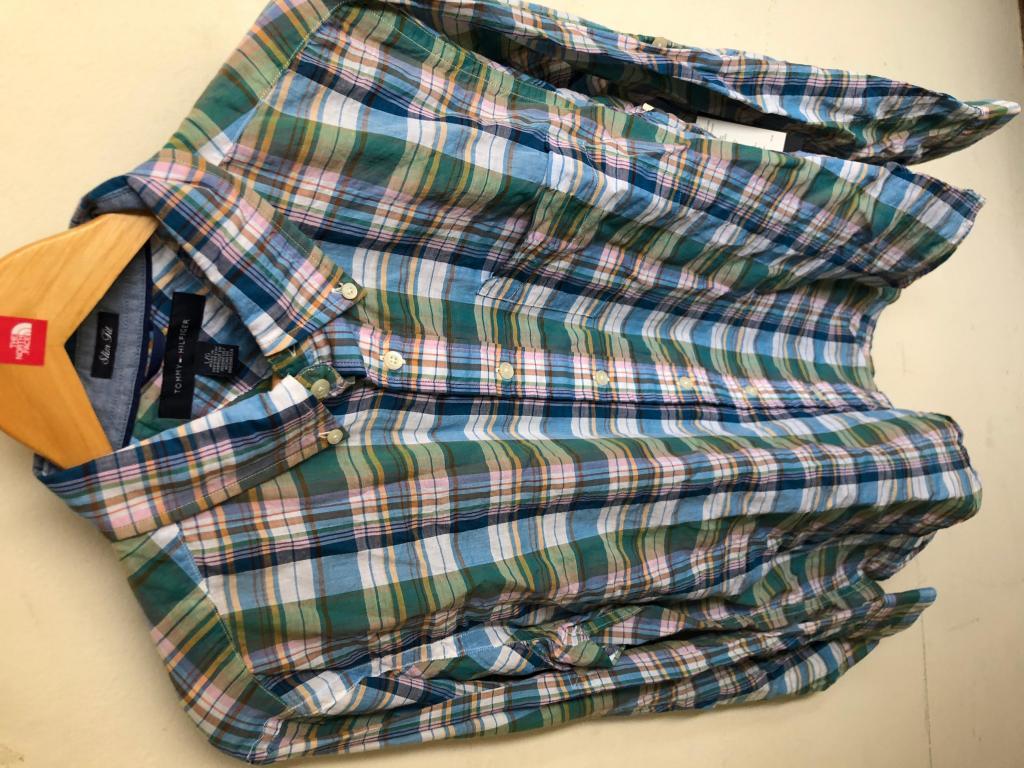Camisa Tommy Hilfiger Slim Fit Nueva Original  Talla