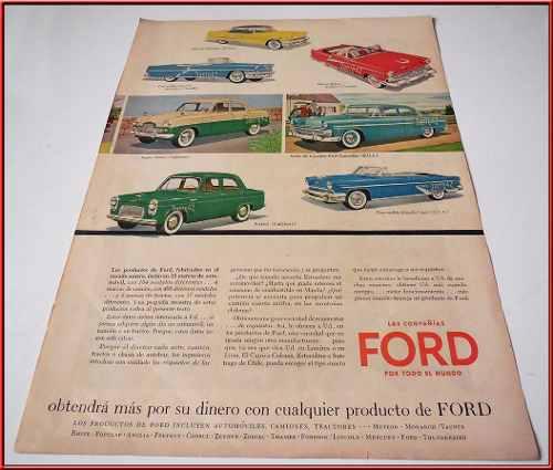Dante42 Publicidad Antigua Retro Auto Ford 1955