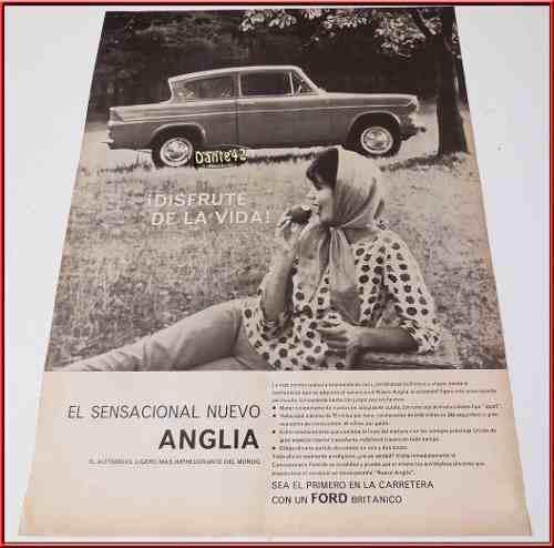 Dante42 Publicidad Antigua Retro Auto Ford Anglia 1960