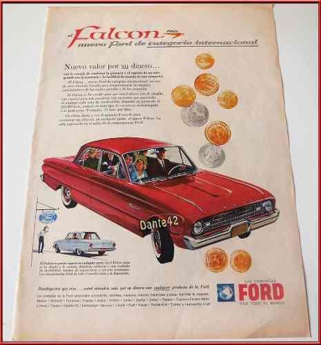 Dante42 Publicidad Antigua Retro Auto Ford Falcon 1960