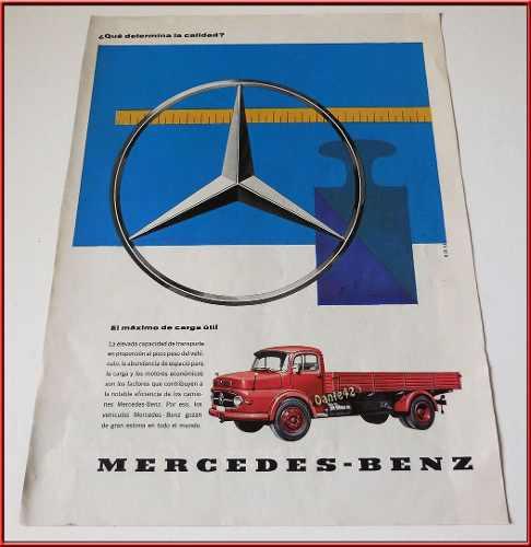 Dante42 Publicidad Antigua Retro Camion Mercedes Benz 1960