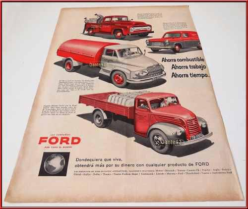 Dante42 Publicidad Antigua Retro Camiones Ford 1956