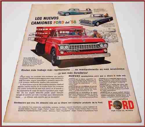 Dante42 Publicidad Antigua Retro Camiones Ford 1958