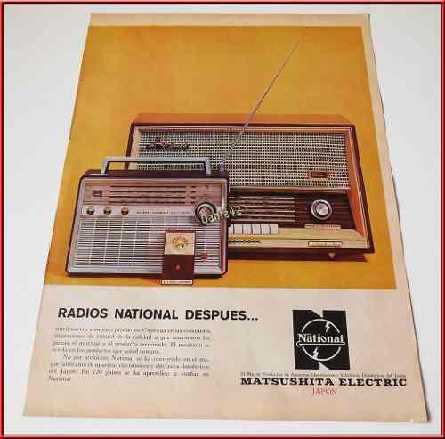 Dante42 Publicidad Antigua Retro Radio National 1964 1966
