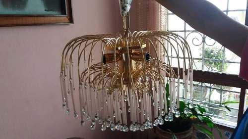 Lamparas Pucci De Cristal Bordes Bañados En Oro 24 Kl
