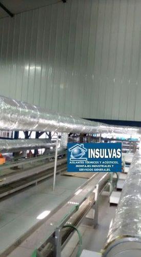 Revestimiento De Lana De Vidrio Con Foil De Aluminio