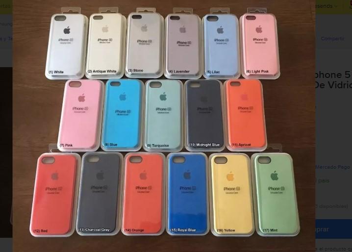 Case De Silicona Para Iphone 5 Se Con Logo Apple