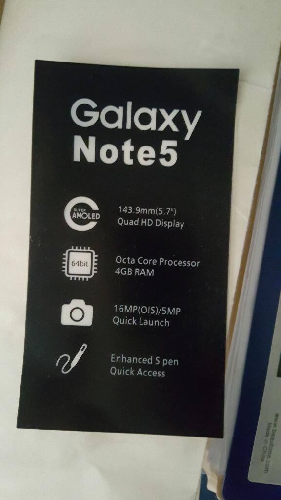 Vendo Samsung Galaxy Note 5 Nuevo en Caj